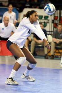 Deja McClendon has learned to develop her defense and was second among Nittany Lions in digs this season.