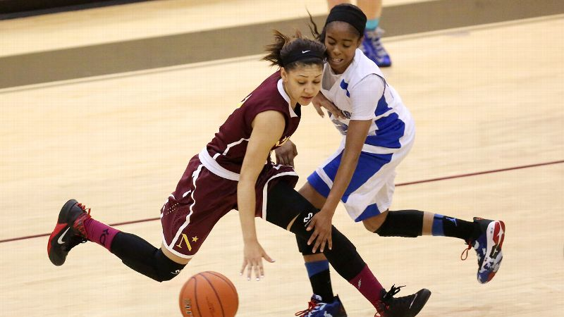 Bianca Cuevas, a South Carolina recruit and the No. 44 prospect in the 2014 class, and Nazareth (N.Y.) got the best of Jordin Canada, a UCLA recruit and the No. 6 prospect in the 2014 class, in the final of the Blue Division.
