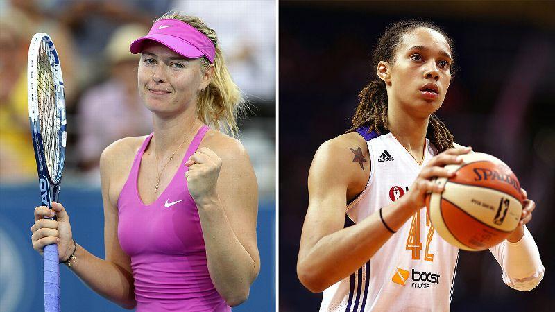 Maria Sharapova and Brittney Griner