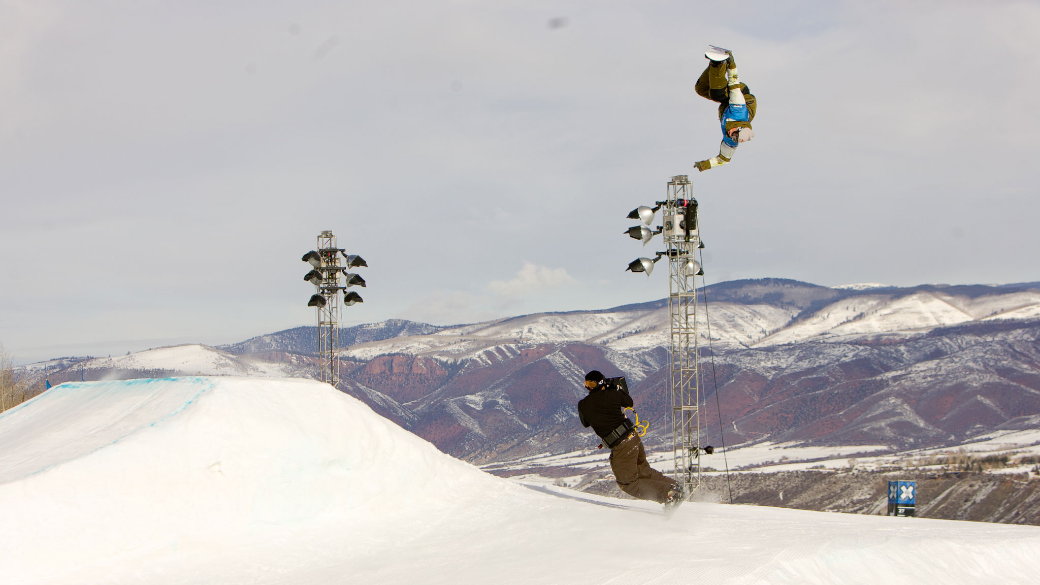 Backcountry freestyle and snowboard film pioneer Travis Rice, pictured here, won slopestyle bronze at X Games in 2005.