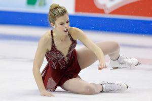 Ashley Wagner's two falls during Saturday's free skate kept in fourth place overall at nationals and put her Olympic hopes in doubt.