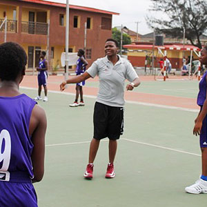 Uju Ugoka returned to the 2013 Hope 4 Girls Africa camp to help coach.