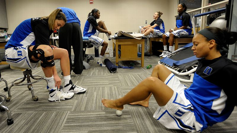 The Duke women's basketball team keeps athletic trainer Summer McKeehan busy.