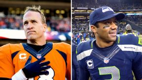 It will be fascinating to watch up-and-coming superstar Russell Wilson, right, taking on already-a-legend Peyton Manning.