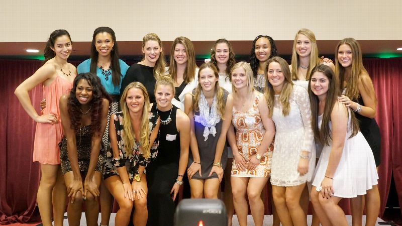 During the USC volleyball team banquet, it struck Emily Young how lucky she was to be sitting in a room full of knowledge.