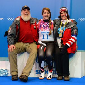 Erin Hamlin's parents, Ron and Eileen, said it was hell having to wait to see whether their daughter would medal Tuesday night.