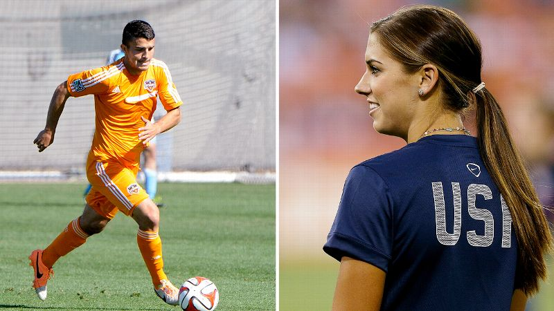 Beloved U.S. soccer star Alex Morgan announced her engagement to Servando Carrasco of the MLS's Houston Dynamo in December and simultaneously broke the hearts of thousands of hopeful admirers across the country. The soccer-loving pair met while attending Cal, and they've been together ever since. The private couple has yet to share details about the upcoming nuptials, but Morgan's USWNT teammate Sydney Leroux has announced her intentions to throw the best bachelorette party of all time. We don't doubt it. (Photos: Getty Images)