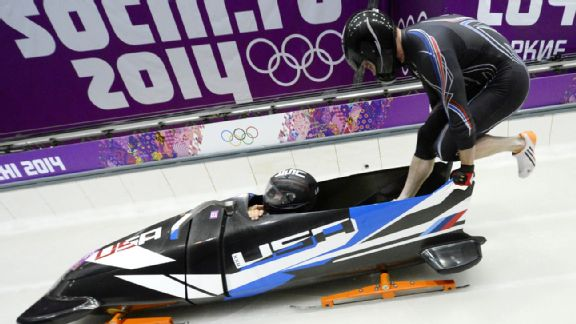 Steven Holcomb and Steve Langton earned bronze in the two-man bobsled, ending a 62-year medal drought in the event for the U.S.
