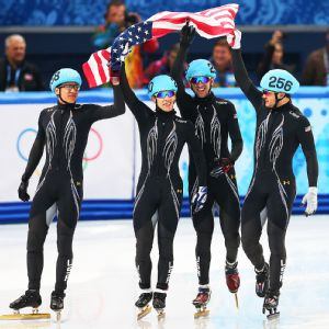 The team of JR Celski, Jordan Malone, Chris Creveling and Eduardo Alvarez saved the U.S. from being shut out of the speedskating medals.