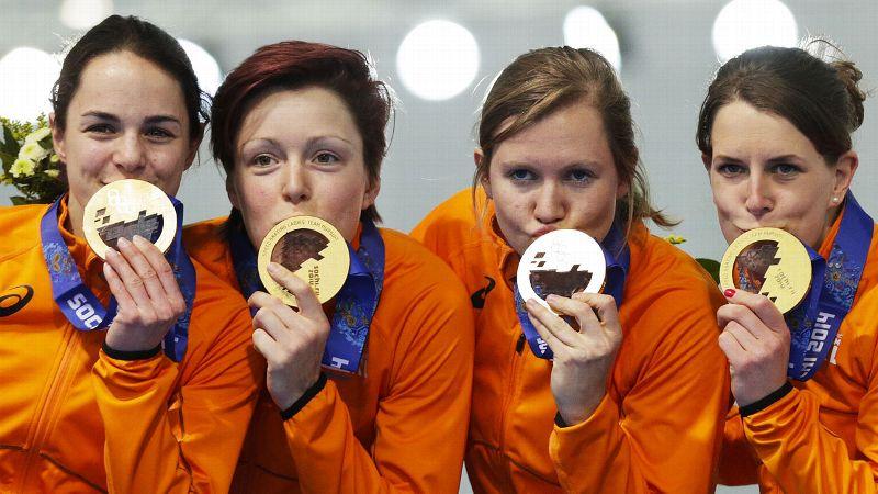 Feb. 22: W Silver Medalist Dutch women's team pursuit