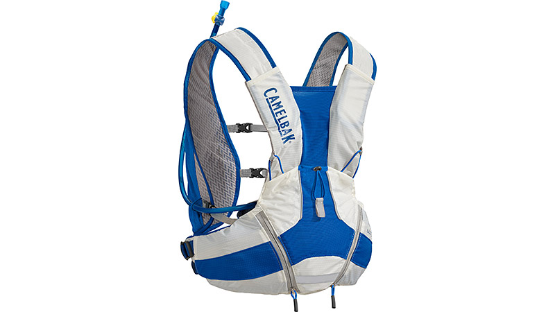 A lumbar hydration vest designed for going long, the Ultra LR is built to put the weight of the pack on your hips instead of your shoulders and back. Not only does this make it more comfortable, it also allows you to maintain your natural running form. With a 2-liter hydration reservoir, a quick-stash mesh back pocket, and two front cargo pockets, there's room for everything you'll need for that extra mileage.