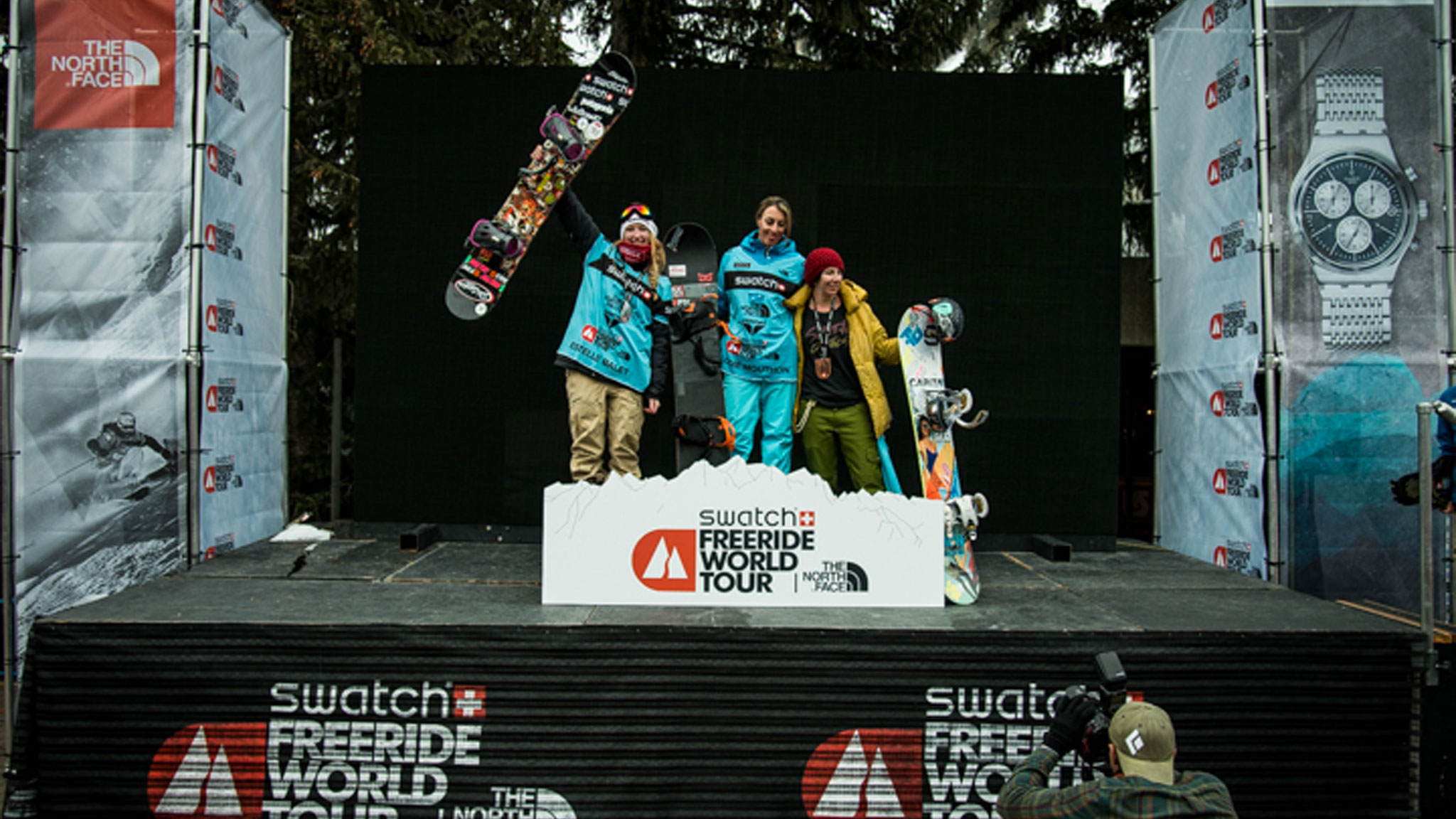 Women's Snowboard Podium