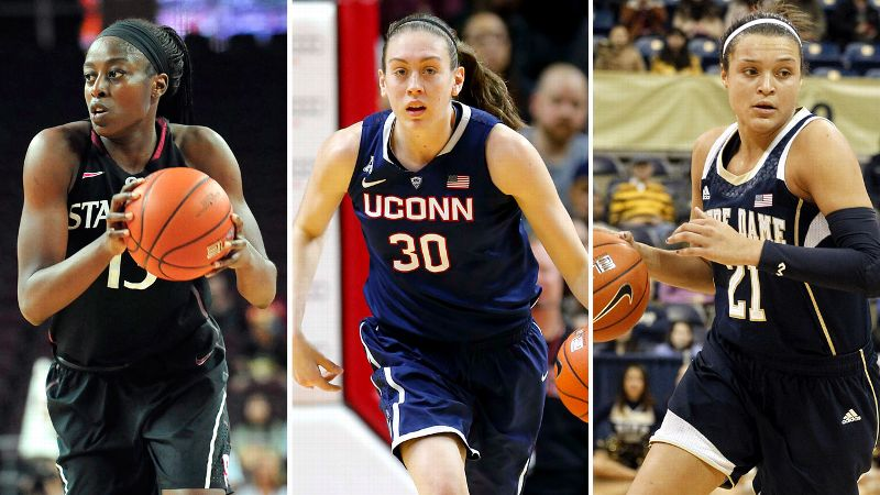 While the ACM's highest honor could go anyone's way, the Final Four MOP (the closest thing to an Entertainer of the Year award in college basketball) seems destined for one of the three Naismith Trophy finalists in Nashville -- Stanford's Chiney Ogwumike, UConn's Breanna Stewart or Notre Dame's Kayla McBride. All three have had sensational seasons, on par with Taylor Swift's most impressive of years, and each took her conference's player of the year honors. But which player can step up when it's needed most? That can only be answered in Nashville.