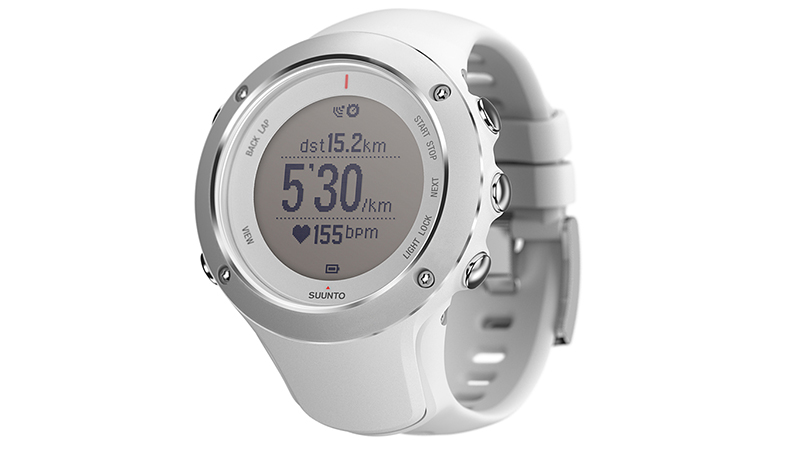 Well known for its navigation devices, Suunto built a great watch for triathletes in the Ambit2 S White, which allows you to track swimming, biking and running. Syncing with the satellites in just seconds and compatible with any ANT heart-rate strap, this is a no-hassle GPS option. For swimming, the waterproof watch tracks strokes, pace and distance via an accelerometer and GPS. The GPS capabilities may be enough information for you when swimming and biking, but if you're looking for more, you have the option to purchase the Bike POD or Foot POD to measure cadence. If you're practicing all three disciplines in a single day, it also has a multisport profile, making for a seamless transition between swimming, biking and running. For fashion-savvy triathletes, this is one of the freshest-looking GPS watches out there.