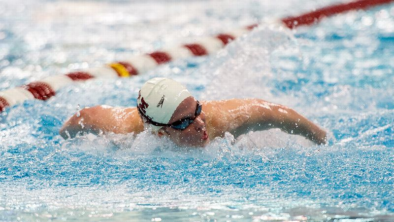 Texas A&M senior Cammile Adams, who finished fifth in the 200-meter butterfly at the London Olympics, is back at the NCAA championships trying to defend her title in the 200-yard butterfly. She also is slated to race in the 500-yard freestyle and the 400 individual medley.