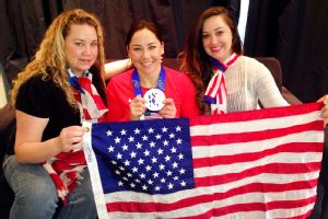 Alana Nichols' sisters Jovan (left) and Julianne were in Sochi to support her -- on the slopes and during her hospital stay.