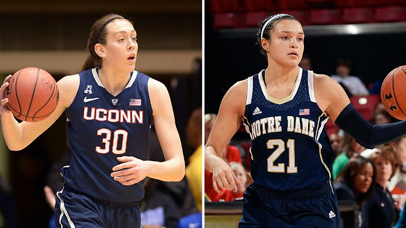 UConn and Notre Dame will put their perfect seasons on the line in Tuesday night's national championship game.