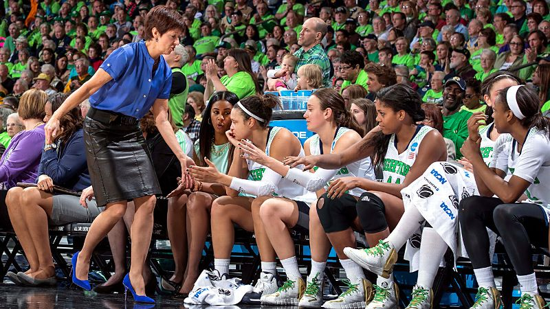 Much like a good songwriter, a good coach can create a hit and be successful no matter who she's working with or where they are. With star Skylar Diggins graduating after the 2013 season and the move to the ACC, questions emerged about how Notre Dame would fare this season. No one dreamed the Irish, ranked No. 6 in the AP preseason poll and No. 7 in the USA Today preseason poll, would complete an undefeated regular season. However, under the leadership of coach Muffet McGraw, Notre Dame has won all but two games by double digits.