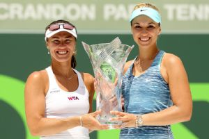 Martina Hingis won her 38th doubles title on Sunday, her first since 2007.