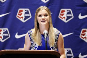Kealia Ohai, the No. 2 selection in the NWSL college draft, knows all about high expectations after playing at North Carolina.