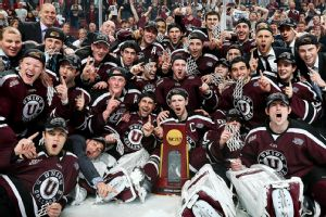 The Union College Dutchmen went 16-0-1 in their last 17 games en route to their first-ever NCAA hockey title.