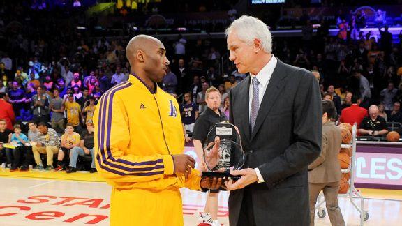 Lakers GM Mitch Kupchak, right, better hope 36-year-old Kobe Bryant still has something left.