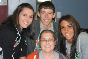 Taylor Gadbois with sister Jordan, left, brother Derek and their mom, Dana Austin.