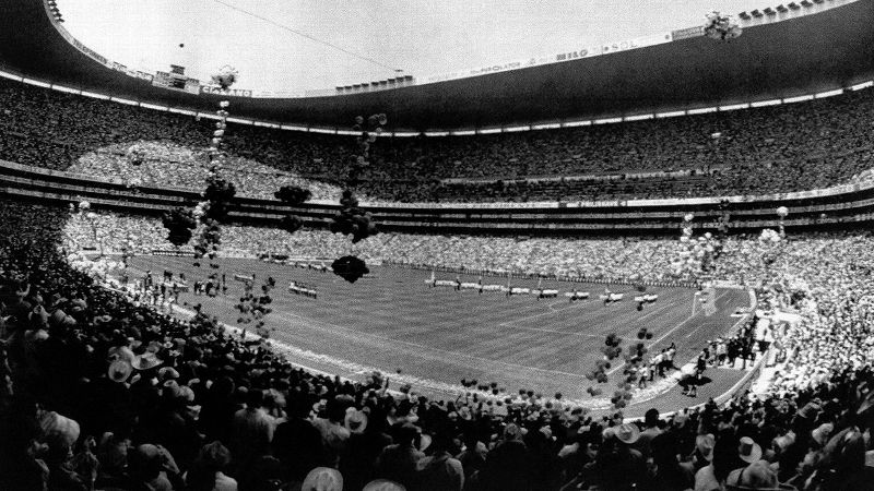 In 1970, Mexico became the first country in North America -- and the first country outside of Europe and South America -- to host the World Cup. With games played at five different stadiums throughout the country, the entire nation was thrust into the international spotlight. The tournament, the first broadcast in color, attracted a record television audience for the World Cup. Mexico lost in the quarterfinals to eventual runner-up Italy. Led by Pele, Brazil captured its third title. Mexico hosted the World Cup again in 1986.