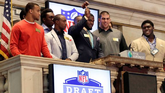 The traditional visit to the New York Stock Exchange was a highlight for 2013's draft prospects.
