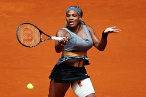 Defending champion Serena Williams dispatched Shuai Peng in straight sets to advance to the third round of the Madrid Open.