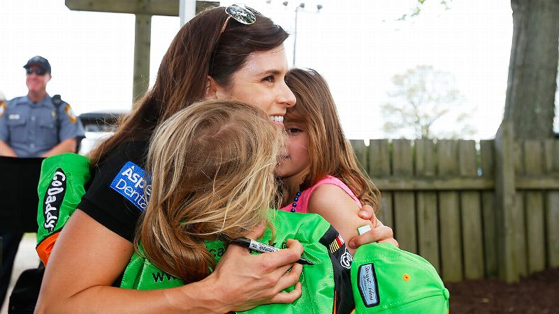 Danica Patrick said she now recognizes that it's an honor to have so many female fans looking up to her.