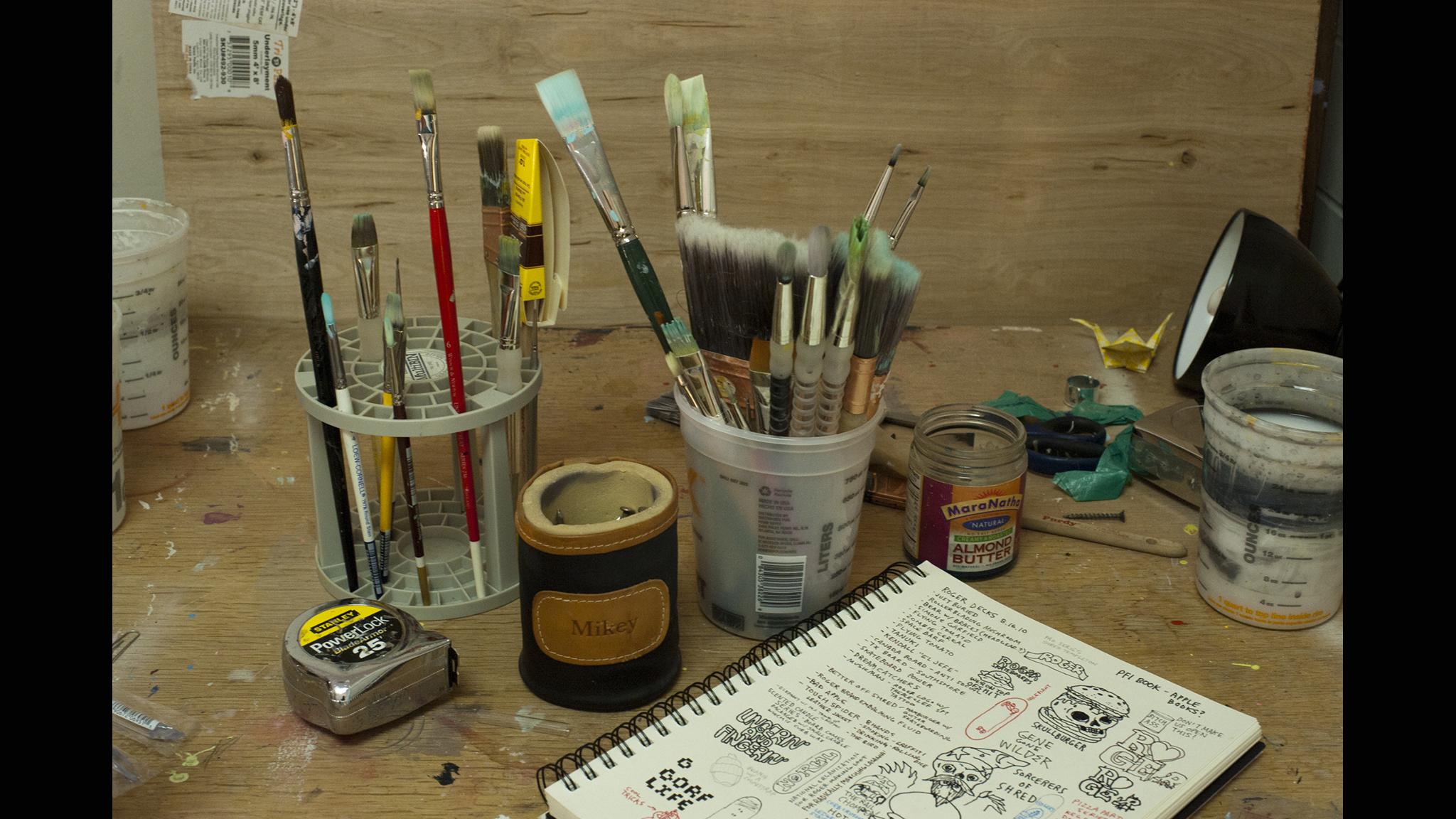 Sieben's studio