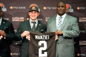 Johnny Manziel and Ray Farmer