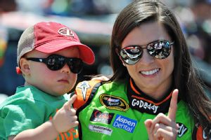 Kevin Harvick's 22-month-old son Keelan loves Danica Patrick and can even identify her green car on the race track.