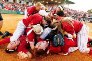 Alabama celebrated its third trip to the Women's College World Series in four years after defeating Nebraska on Saturday.