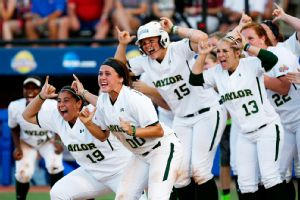 Baylor players celebrate Ari Hawkins' home run during Saturday's improbable comeback against Kentucky.