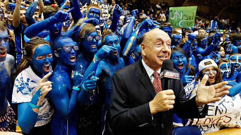 No one loves college basketball more than Dick Vitale. But these painted fans might be a close second.