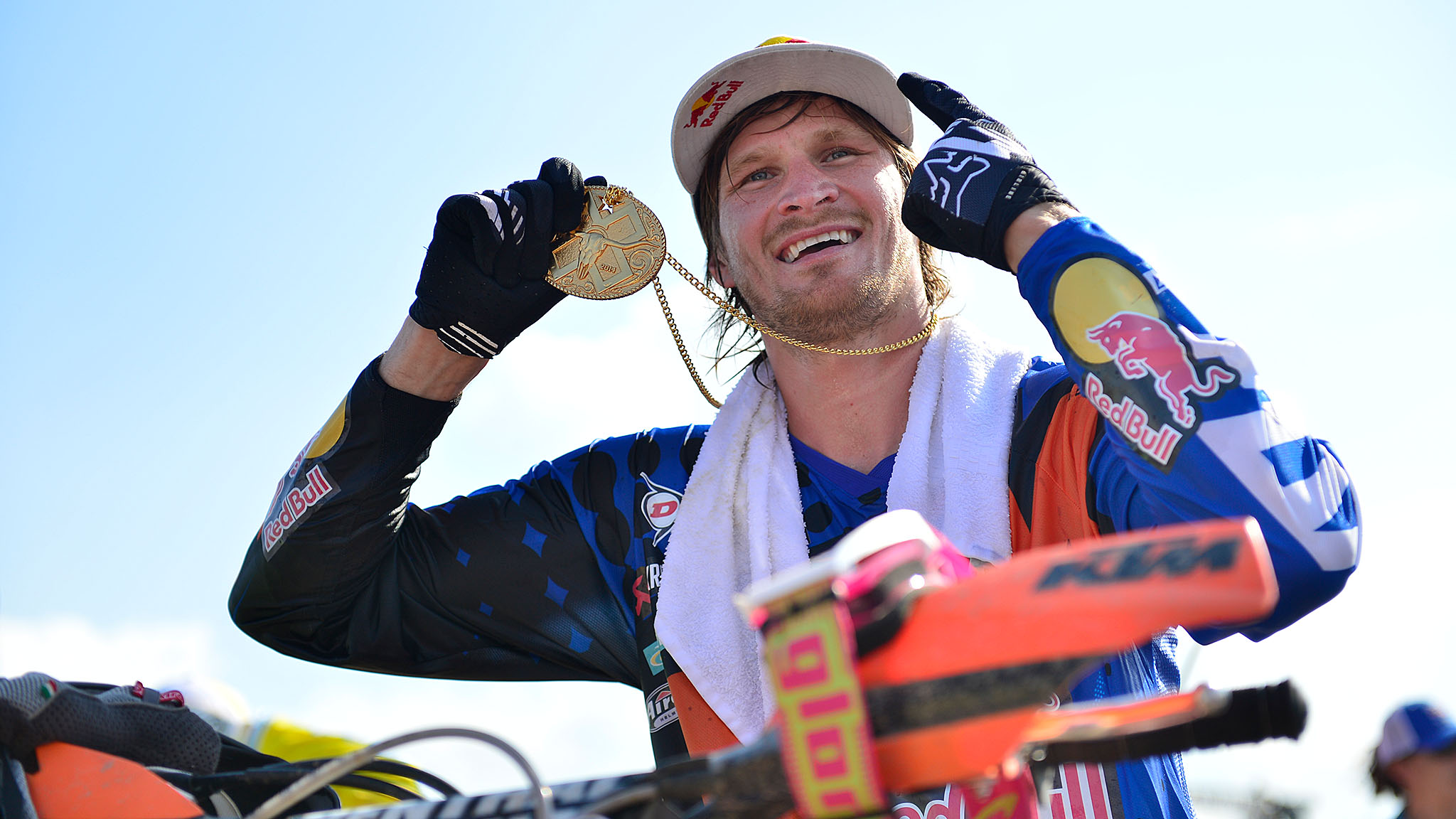 Enduro X favorite and defending champion Taddy Blazusiak collected his fourth X Games gold medal on Friday in a hard-fought battle. Mike Brown held the inside line out of the first turn, but Blazusiak overtook him before the end of the first of 10 laps.