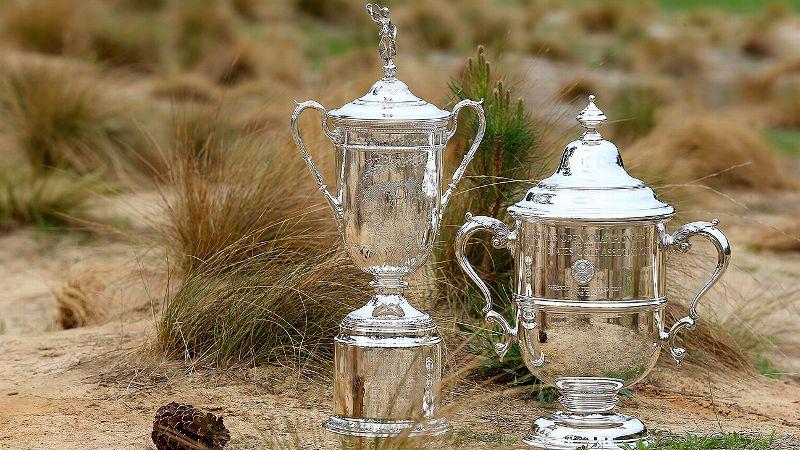 U.S. Open trophies