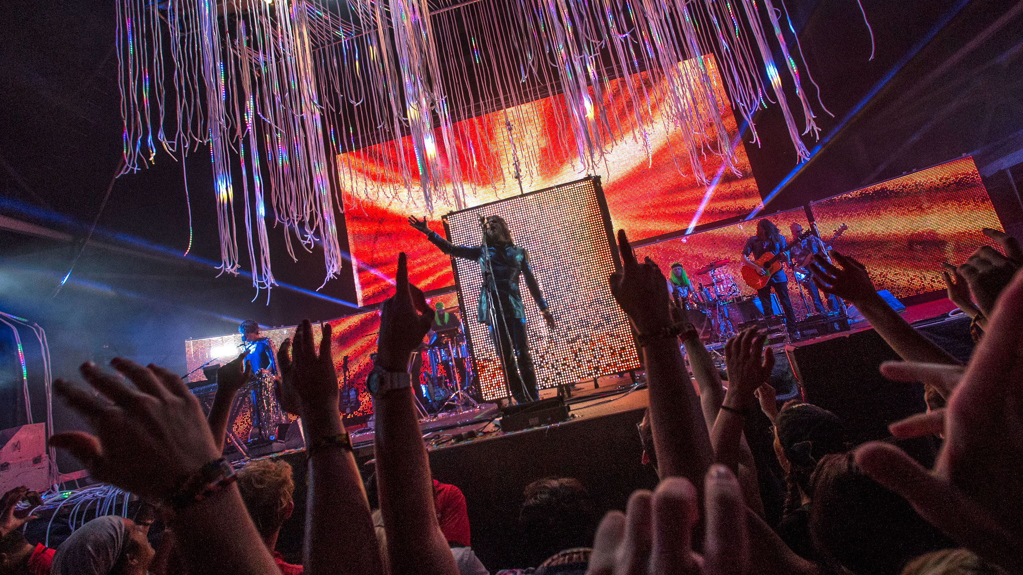 Flaming Lips, pictured here performing on Sunday at X Games Austin.