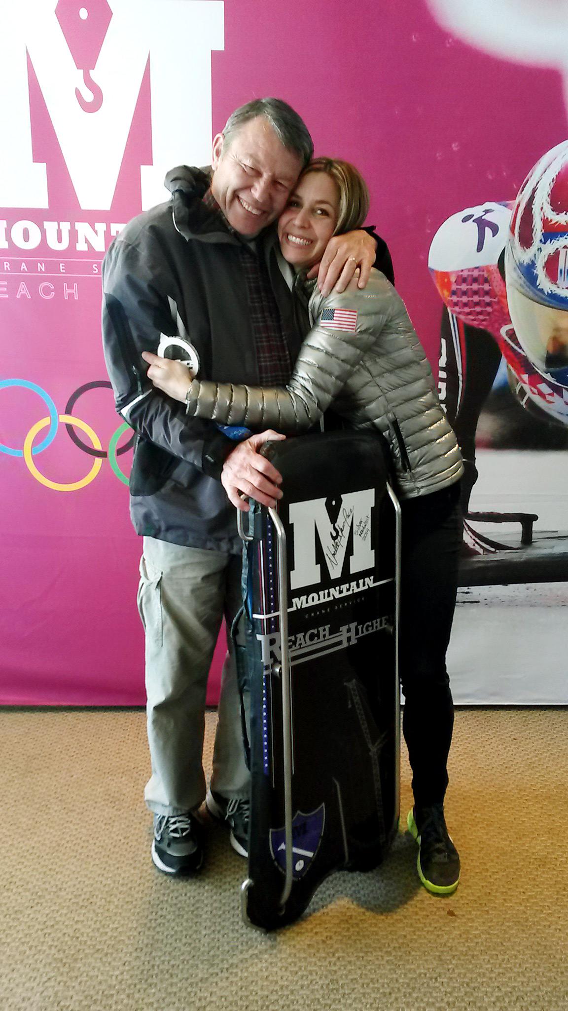 Noelle Pikus-Pace, 2014 Olympic silver medalist in skeleton