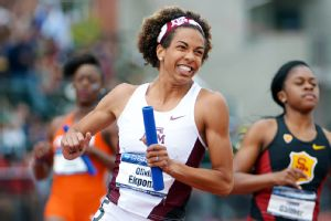 Olivia Ekpone anchored Texas A&M's 4x100, which got the Aggies off and running Saturday.