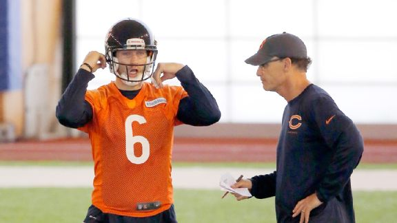 Jay Cutler's performance in his first year under Marc Trestman prompted the Bears to stick with him.