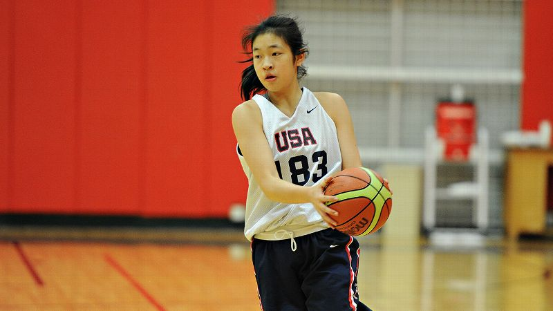 Natalie Chou says a brush with death as an infant left her purple and blue. Today, she's donning the red, white and blue for Team USA.