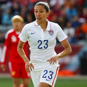 Forward Christen Press has scored 12 goals in her 24 appearances with the U.S. women's national team.
