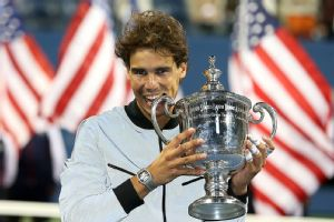 Rafael Nadal earned 2.6 million for winning last year's U.S. Open title.