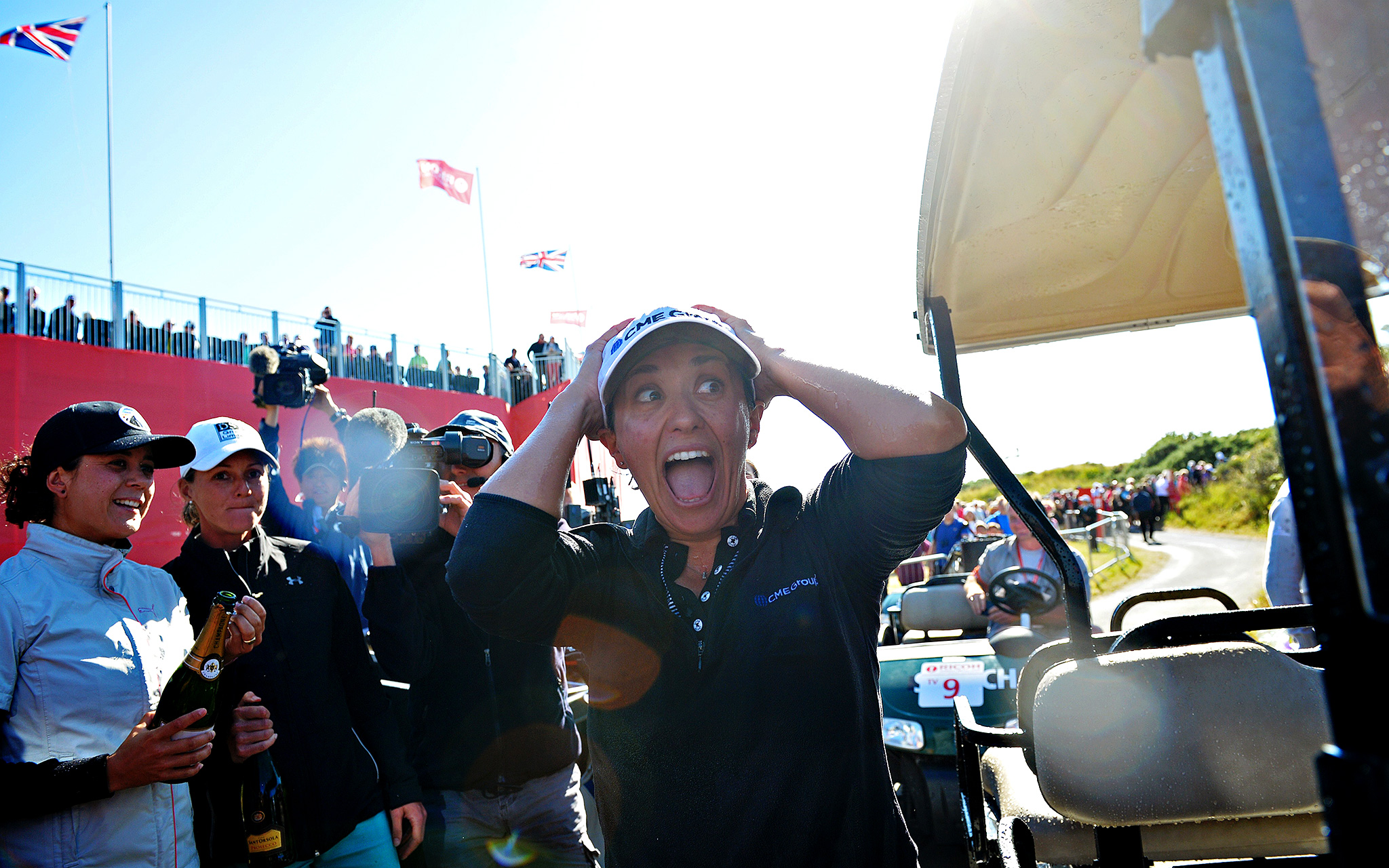 Mo Martin reacts after winning the Women's British Open at Royal Birkdale golf course. Mo Martin arrived in England as a little-known American but left as golf's newest major champion after a one-shot triumph.