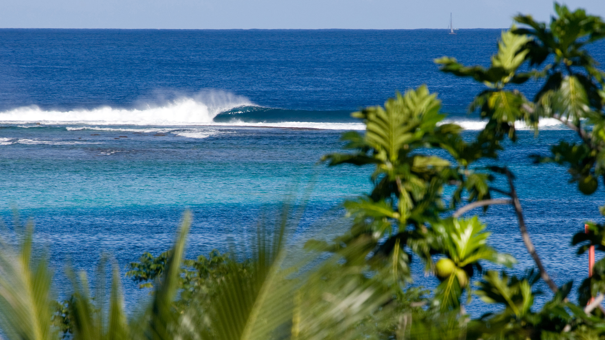 This is the dream, right? A tropical island, cobalt water, offshore winds and a perfect wave with nobody out. If ever there were a surfing fantasy island it might be Moorea, Tahiti, but then again, judging by the rest of the images in Shawn Parkin's portfolio it might be best to book an around-the-world plane ticket.