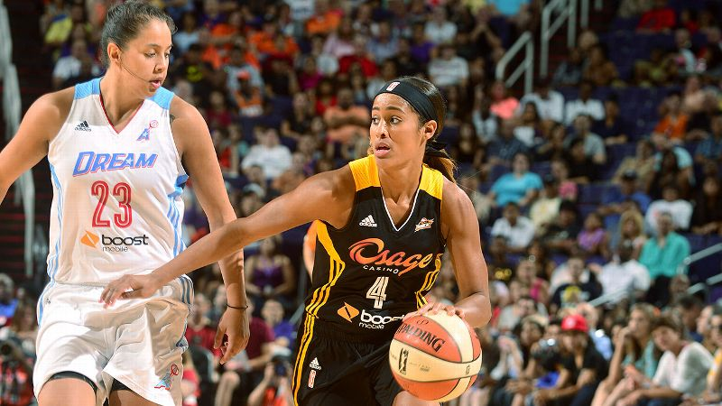 Diggins had a breakout season for the Shock, more than doubling her scoring average and setting the offensive tone for a young team that is making progress. Diggins' 20.3 PPG rank second only to Maya Moore's 24.2. i-- MS/i