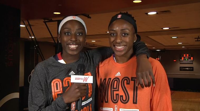 Chiney and Nneka Ogwumike are the first pair of sisters to play in the WNBA All-Star Game.